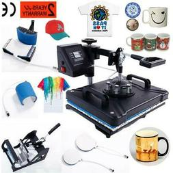 5 In 1 Digital Heat Press Machine Sublimation for T-Shirt Mu