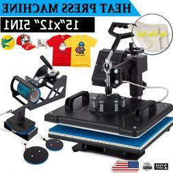 "Digital 5in1 Transfer Heat Press Machine 15""X12"" Sublimation"