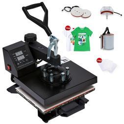 5 in 1 Heat Press Machine Swing Away Digital Sublimation T-S