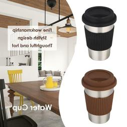 500mL Stainless Steel Non-Slip Coffee Water Cup Insulated Th