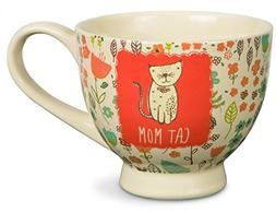 """Pavilion Gift Company 54007"""" A Mother's Love-Cat Mom Floral"""