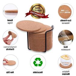 6/10/20PCS Wooden Slice Cup Mat Natural Round Coaster placem
