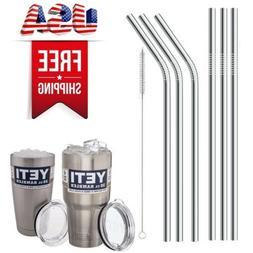 6 Drinking Straws Stainless Steel Tumbler YETI Cup Travel Mu