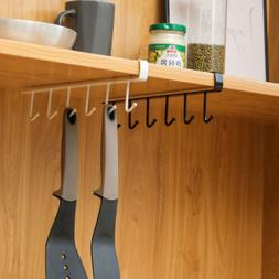 6 Hooks Metal Under Shelf Mug Cup Cupboard Kitchen Organiser