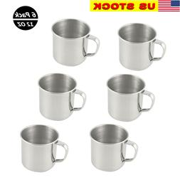 6 pack stainless steel coffee soup mug