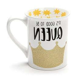 "Enesco 6001219""It's Good to be Queen"" Stoneware Glitter Mug"