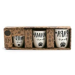 Enesco 6001237 Our Name Is Mud Bear Family Triple Mug Set St