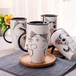 600ml Cute Cat Ceramics Coffee <font><b>Mug</b></font> With