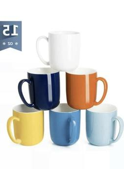 Sweese 604.002 Porcelain Mugs for Coffee, Tea, Cocoa, 15 Oun