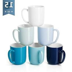 Sweese 604.003 Porcelain Mugs for Coffee, Tea, Cocoa, 15 Oun