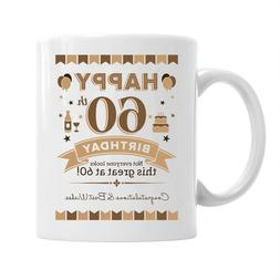60th Birthday Gift Mug Party Favor Idea For Him Men Tea Cup