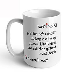 Sweese 6207 Porcelain Large Funny Coffee Mug - Dear mom - Tw