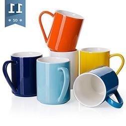 Sweese 6213 Porcelain Coffee Mug Set - 11 Ounce for Coffee,