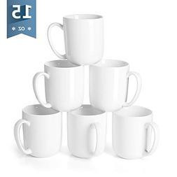 Sweese 6215 Porcelain Mugs for Coffee, Tea, Cocoa, 15 Ounce,