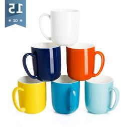 Sweese 6216 Porcelain Mugs for Coffee, Tea, Cocoa, 15 Ounce,