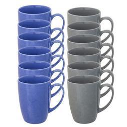 6pk Porcelain Coffee Mug With Handles Glazed Ceramic 15oz Re