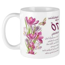 CafePress 70Th Birthday Greeting Gift Mug Mugs 11 oz Ceramic