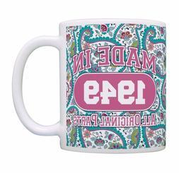 ThisWear 70th Birthday Made 1949 Paisley Birthday Mug Decora