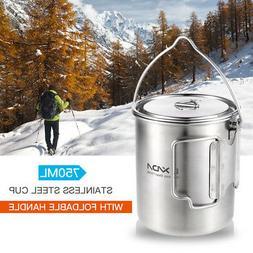 Lixada 750ml Cup Outdoor Water Cup Mug for Camping Hiking Ba