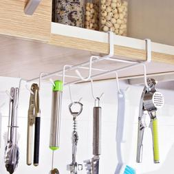 8 Hooks Mug Rack Cup Holder Wall Mounted Storage Hook Hangin