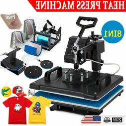 8 in 1 Heat Press Machine Digital Transfer Sublimation T-Shi