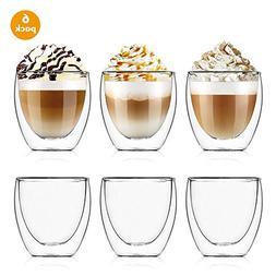 Esnow 2.7 Ounce/80 milliliter Double Wall Glass/Mug Espresso