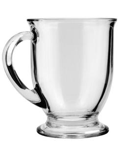 83045wc 13 oz clear cafe mugs set
