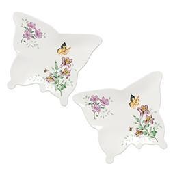 Lenox 866000 Butterfly Meadow Melamine Butterfly Trays , Sma