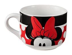 Vandor 89153 Disney Minnie Mouse 20 Ounce Ceramic Soup Mug,
