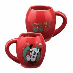 Vandor 89361 Disney Mickey Mouse Holiday 18 Ounce Oval Ceram