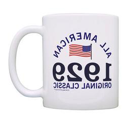 90th Birthday Gifts 1929 All American Classic Patriotic Coff