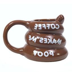 BigMouth Inc Coffee Makes Me Poop Mug, Funny Gag Gift, 14 oz