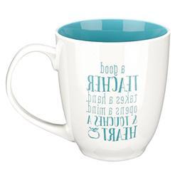 """Blue Blessings to the Teacher """"Touches a Heart"""" Mug - 1 Cori"""