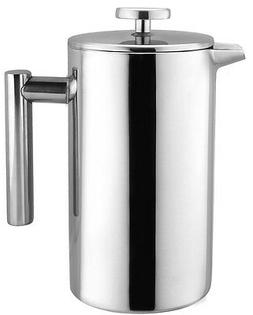 Bruntmor, KOBIA 8 Cup  Double Wall 18/8 Stainless Steel Fren