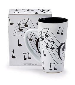 Burton & Burton Musical Note Jazz Ceramic Coffee/Tea Travel
