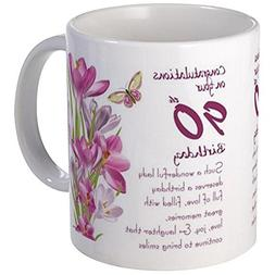 CafePress - 90Th Birthday Butterfly And Crocus Gift Mug Mugs