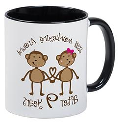 CafePress - 9Th Anniversary Love Monkeys Mug - Unique Coffee