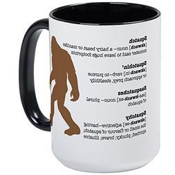 CafePress Definition Of Bigfoot Large Mug Coffee Mug, Large