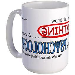 CafePress - Psychology Degree Large Mug - Coffee Mug, Large