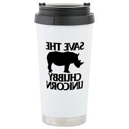 CafePress - Save The Chubby U - Stainless Steel Travel Mug,