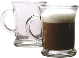 Circleware 51262 Flavor Heavy Base Glass Coffee and Tea Mugs
