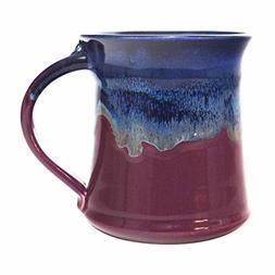 Clay In Motion Handmade Ceramic Medium Mug 16oz - Purple Pas