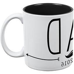 DAD Est 2016 White-Black All Over Coffee Mug