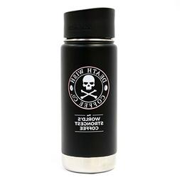 Death Wish Coffee Wide Mouth Travel Mug, Vacuum Insulated an