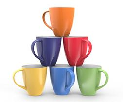 Francois et Mimi Set of 6 Large-sized 16 Ounce Ceramic Coffe