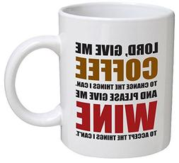 Funny Mug - Lord, give me coffee to change the things I can.