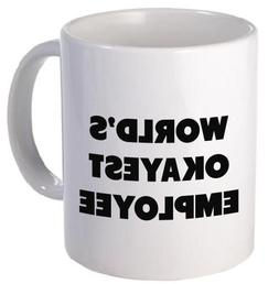 Funny Mug - World's Okayest Employee - 11 OZ Coffee Mugs - F
