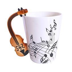 LanHong - 400ml Novelty Violin Mug Ceramic Coffee Milk Cup w