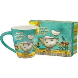 Lang - Color My World - 17 oz Ceramic Cafe Mug - Birds, Blac