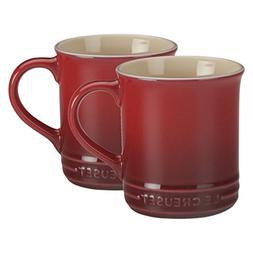 Le Creuset of America Stoneware Set of 2 Mugs, 12-Ounce, Cer